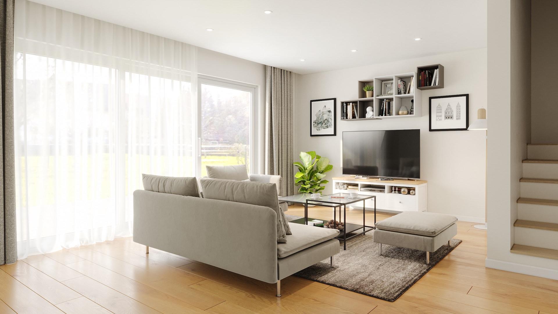 Visualisierung des Wohnzimmers