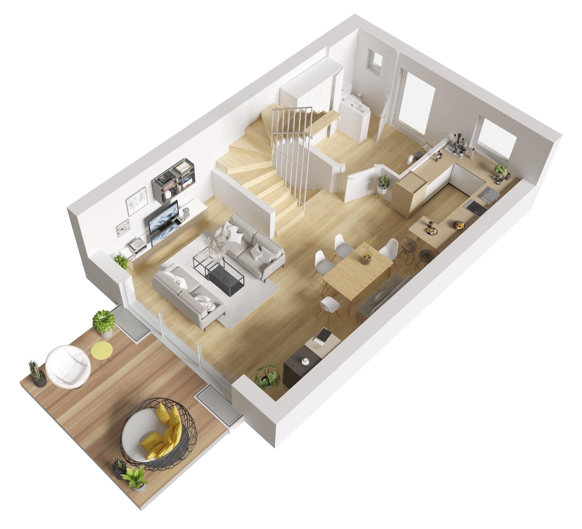 Visualisierung Erdgeschoss